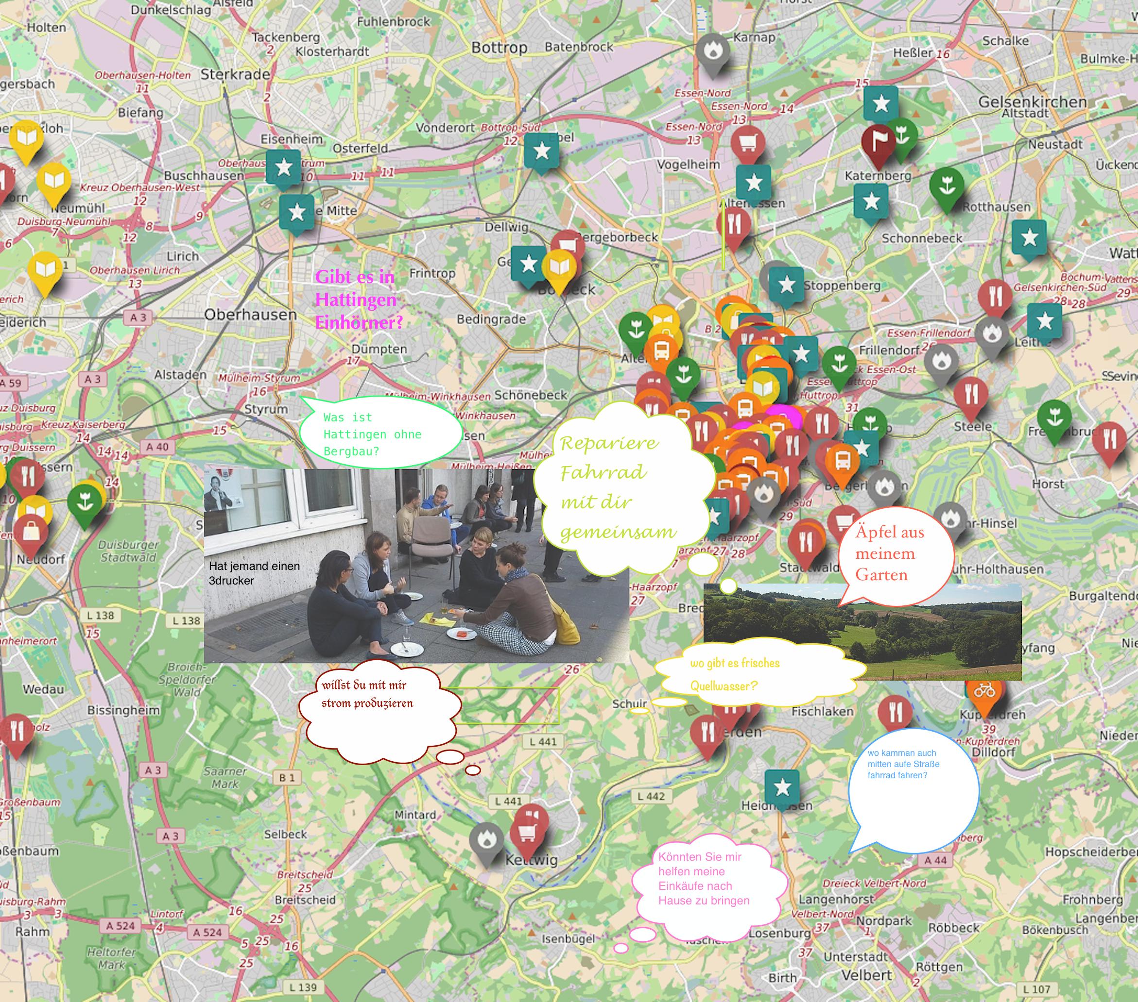 Kartierung der Gemeinschaft nachhaltiges Wiesenviertel
